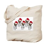belle-santa-yardsign.png Tote Bag