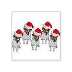 belle-santa-yardsign.png Square Sticker 3