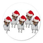belle-santa-yardsign.png Round Car Magnet