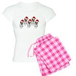 belle-santa-yardsign.png Women's Light Pajamas