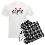 belle-santa-yardsign.png Men's Light Pajamas