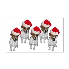 belle-santa-yardsign.png Car Magnet 20 x 12