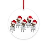 belle-santa-yardsign.png Ornament (Round)