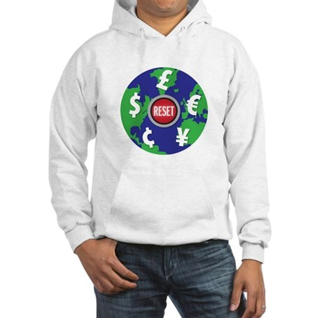global economy reset Hooded Sweatshirt