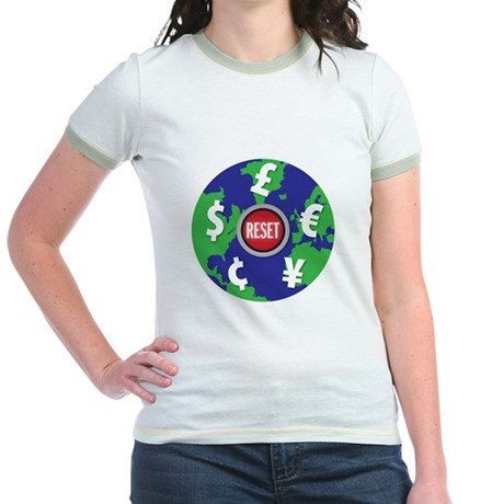 global economy reset Jr. Ringer T-Shirt