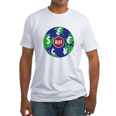 global economy reset Fitted T-Shirt