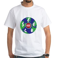 global economy reset White T-Shirt