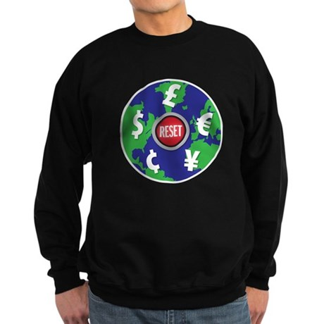 global economy reset Sweatshirt (dark)