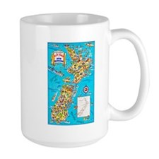 New Zealand Travel Poster 8 Mug