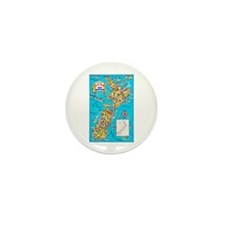 New Zealand Travel Poster 8 Mini Button (10 pack)