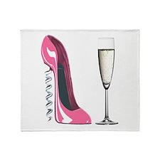 Corkscrew Pink Stiletto Shoe and Champagne Glass