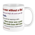 Knife Quotes, Slogans, Sayings Mug