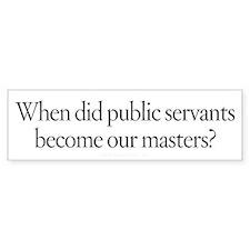 Public Masters Bumper Sticker
