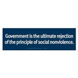 Rejection of Nonviolence Bumper Sticker