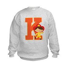 Letter K Firefighter Monogram Sweatshirt