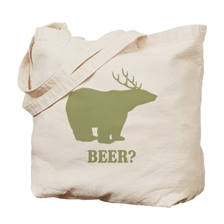 Beer Deer Bear Tote Bag