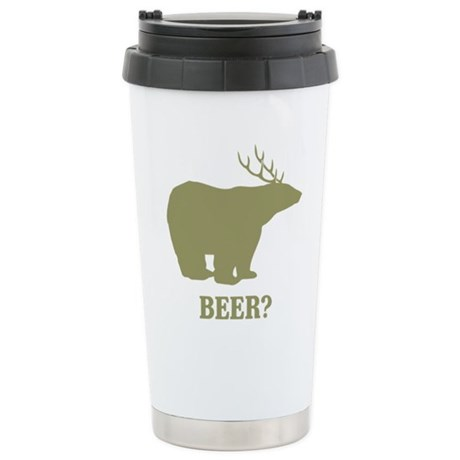 Beer Deer Bear Ceramic Travel Mug