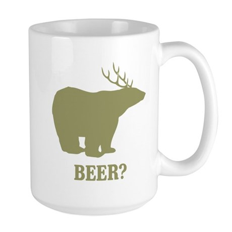 Beer Deer Bear Large Mug