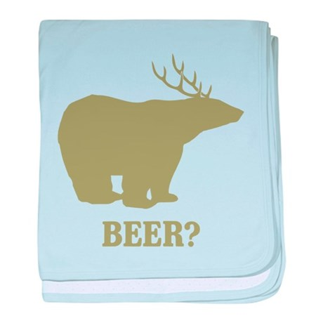 Beer Deer Bear baby blanket