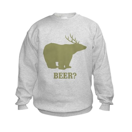Beer Deer Bear Kids Sweatshirt