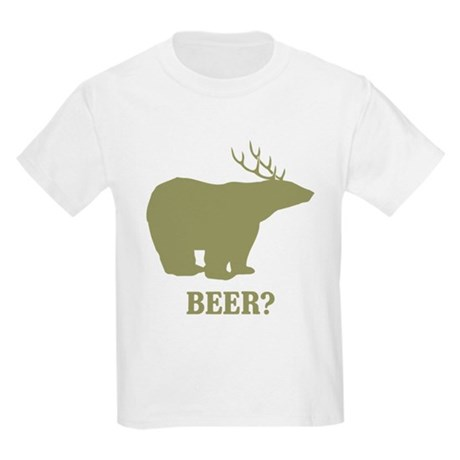 Beer Deer Bear Kids Light T-Shirt