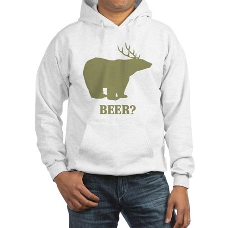 Beer Deer Bear Hooded Sweatshirt