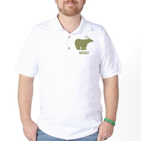 Beer Deer Bear Golf Shirt