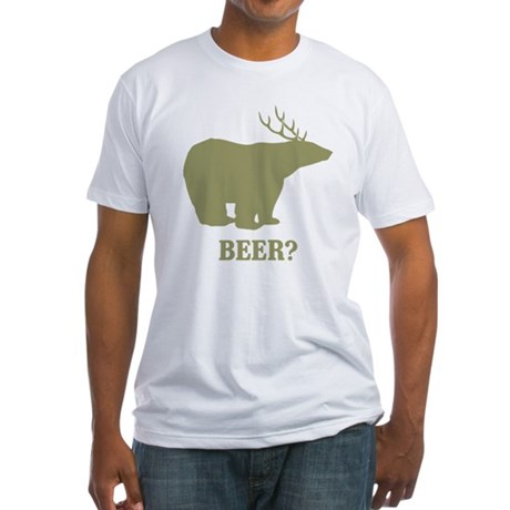 Beer Deer Bear Fitted T-Shirt