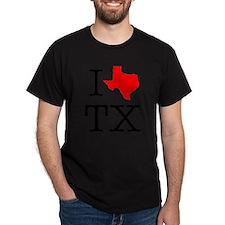 I Love TX Texas T-Shirt