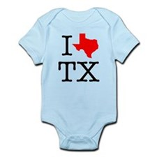 I Love TX Texas Infant Bodysuit
