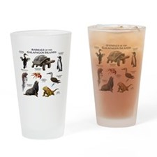 Animals of the Galapagos Islands Drinking Glass