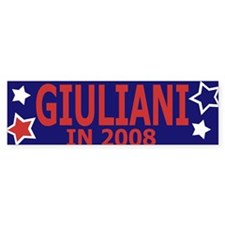 Giuliani in 2008 Bumper Bumper Sticker