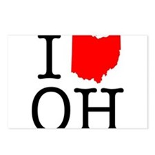 I Love OH Ohio Postcards (Package of 8)