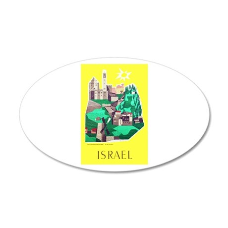 Israel Travel Poster 1 20x12 Oval Wall Decal