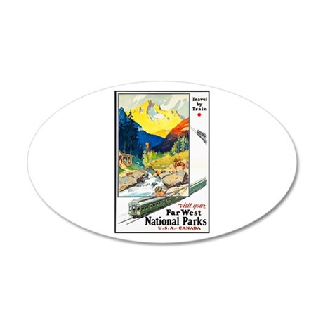 National Parks Travel Poster 6 20x12 Oval Wall Dec