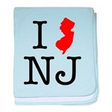 I Love NJ New Jersey baby blanket