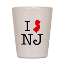 I Love NJ New Jersey Shot Glass