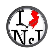 I Love NJ New Jersey Wall Clock