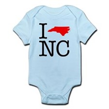 I Love NC North Carolina Onesie