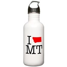 I Love MT Montana Water Bottle