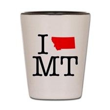 I Love MT Montana Shot Glass