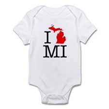 I Love MI Michigan Infant Bodysuit