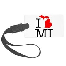 I Love MI Michigan Luggage Tag