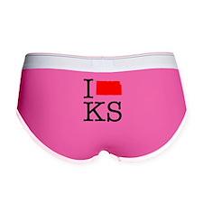 I Love KS Kansas Women's Boy Brief