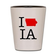 I Love IA Iowa Shot Glass