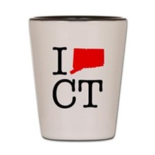 I Love CT Connecticut Shot Glass