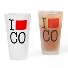 I Love CO Colorado Drinking Glass