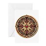 Native American Rosette 02 Greeting Cards (Pk of 2