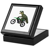 Dirt Bike Wheelie T Rex Keepsake Box