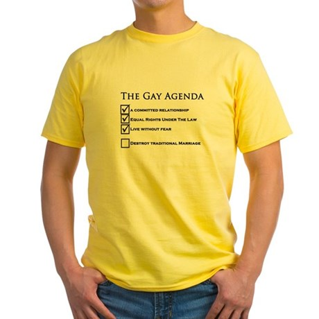 The Gay Agenda Yellow T-Shirt